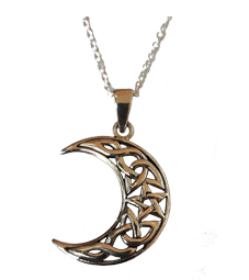 Crescent Moon and PentegramPendant