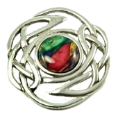 Heathergem Brooch - Red & Green Mix in Stock