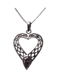 Heart Knot with Pink Stone Pendant