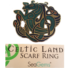 Celtic Horse Scarf Ring