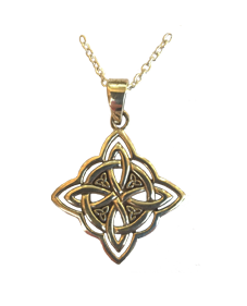 Chunky Four Directions Celtic Knot Pendant