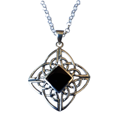 4 Directions Pendant with Mother of Pearl or Black Onyx Stone