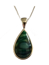 Sterling Silver Heathergem Pendant (Red /Green Mix in Stock)