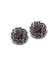 Celtic Knot Studs with Stone