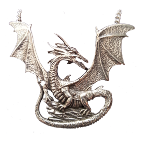 Pewter Dragon Necklace