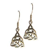 Small Triquetra Earrings