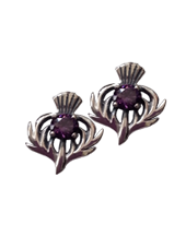 Scottish Thistle Studs with Stone