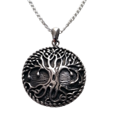 Chunky Tree of Life Pendant with Fairy Door