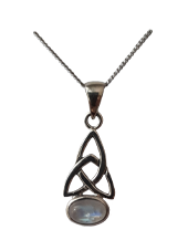 Celtic Knot Pendant with Moonstone or Garnet