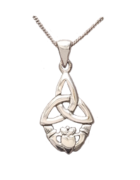 Trinity Knot and Claddagh Pendant