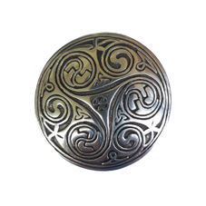 Large Pewter Triskele Brooch