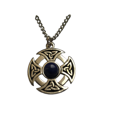 Celtic Cross with Lapis Stone Pendant