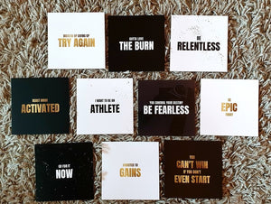 Fitness Quotes Card Set