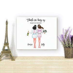 FREE Personalised Bridesmaid Canvas / Bridesmaid Gift