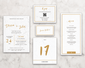 Classy Marble RSVP / Info Card