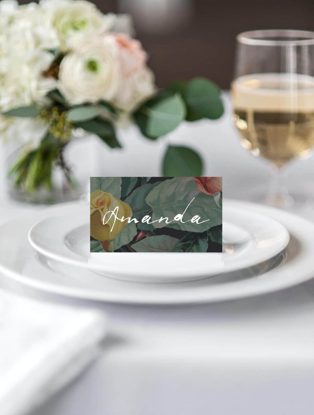 English Roses Place Card