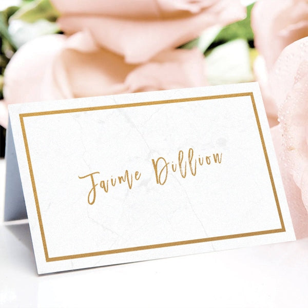 Classy Marble Place Card