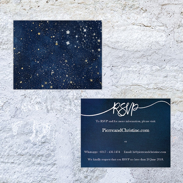 Starry Bliss RSVP / Info Card