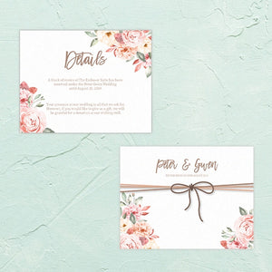 Tie The Knot RSVP / Info Card