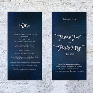 Starry Bliss Menu Card