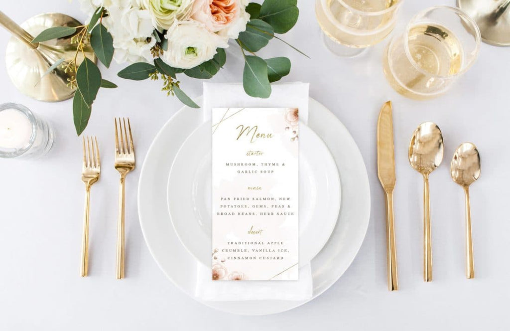 Graceful Menu Card
