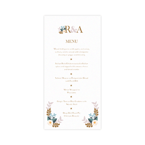 Pastel Love Menu Card