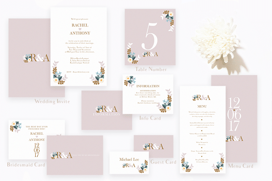Pastel Love Seating Plan