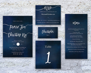 Starry Bliss Table Number