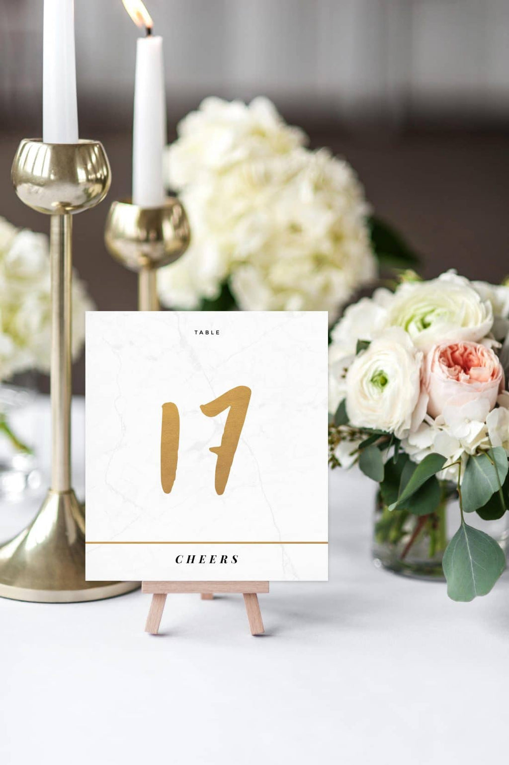 Classy Marble Table Number