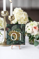 English Roses Table Number