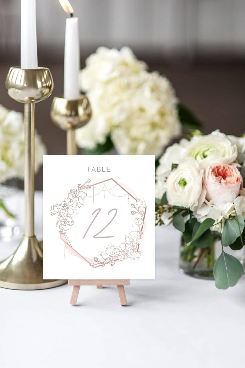 Vintage Crest Table Number