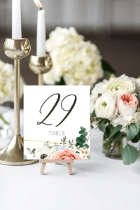 Glamorous Table Number