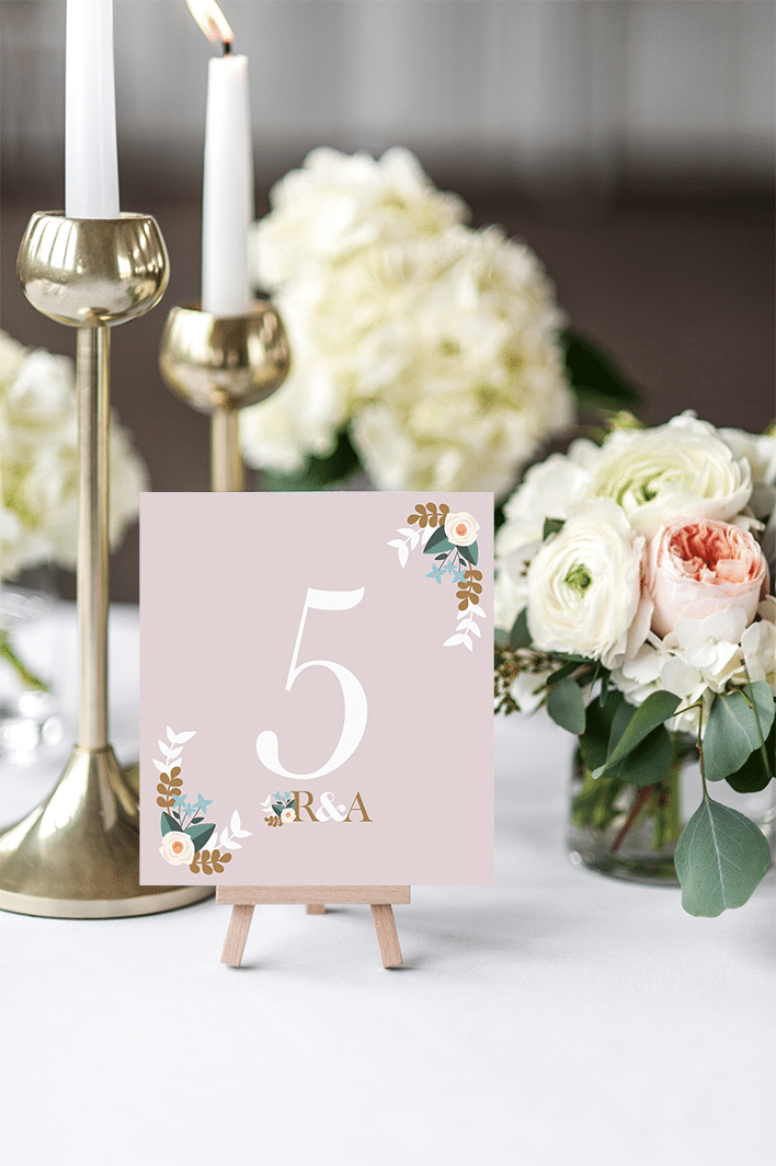 Pastel Love Table Number