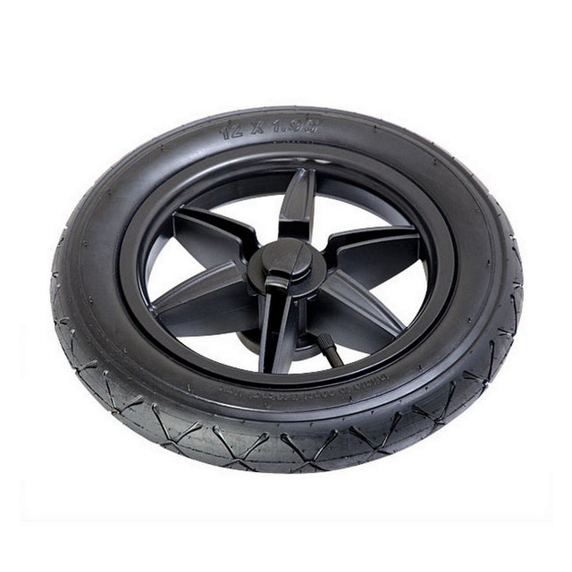 Mountain Buggy 12 inch complete rear wheel with wheel hub tyre and tube in colour black_black