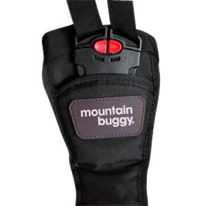 Mountain Buggy replacement harness buckle shown in colour black_black