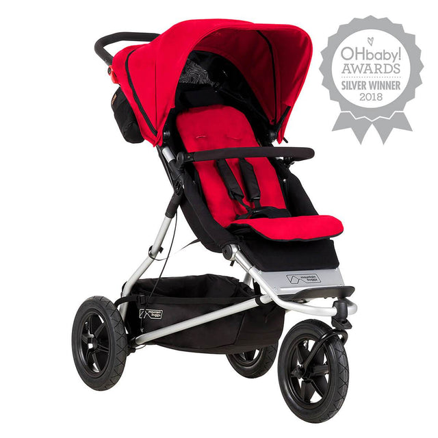 Mountain Buggy +one stroller in berry red colour _berry