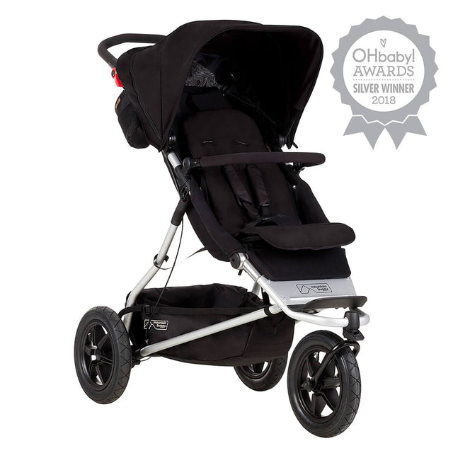 Mountain Buggy +one stroller in black colour_black