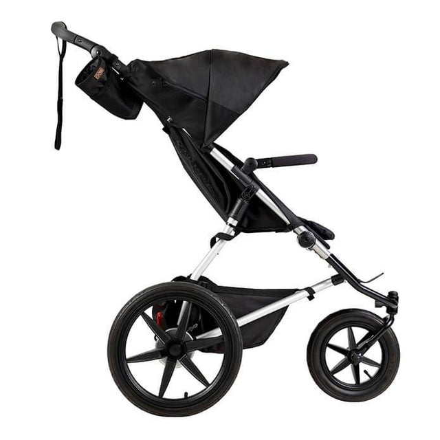 Mountain Buggy terrain stroller in onyx black colour side view_onyx