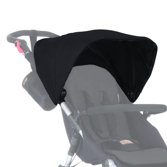 Mountain Buggy replacement sunhood for urban jungle shown in colour black_black