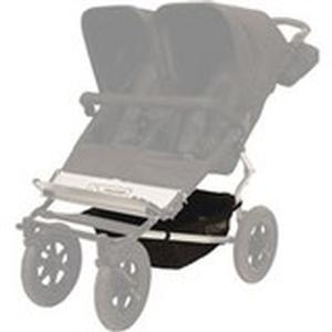 Mountain Buggy double urban legacy buggy gear tray shown in black_black