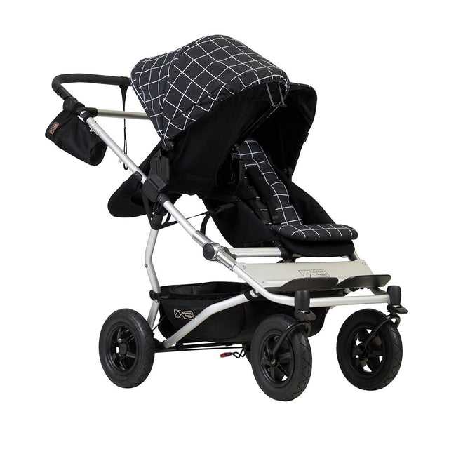 mountain buggy duet double buggy with one 2018 carrycot plus in parent facing mode 3/4 view shown in color grid_grid