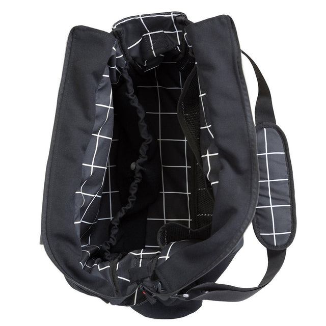 Mountain Buggy double satchel bag opened in colour grid_grid