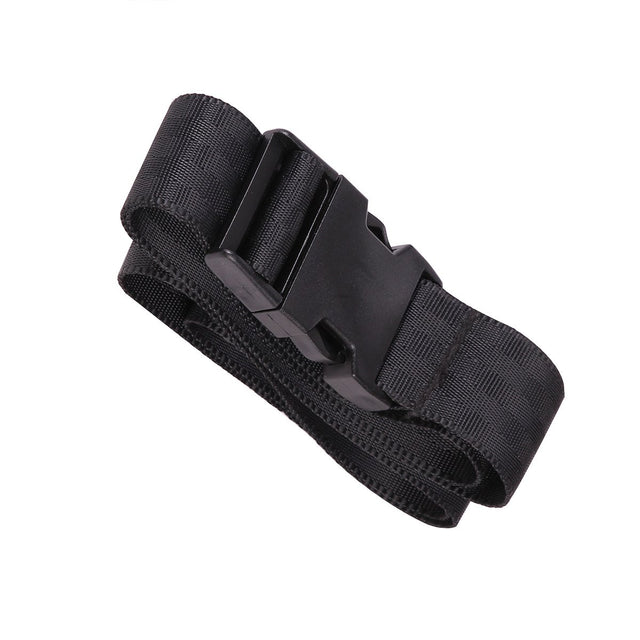 Mountain Buggy buckle set for nano buggy showing webbing strap and quick release buckle in black _black