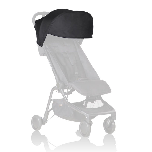 Mountain Buggy replacement sun hood for the nano buggy shown in black_black