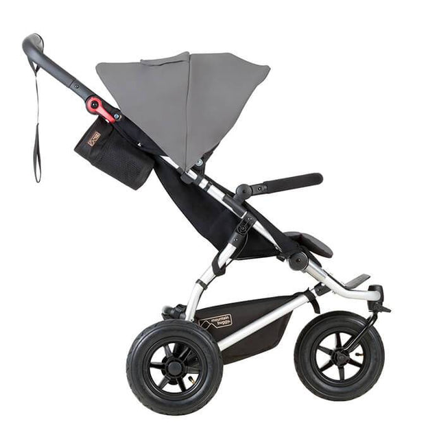 mountain buggy swift compact buggy side view shown in color silver_silver