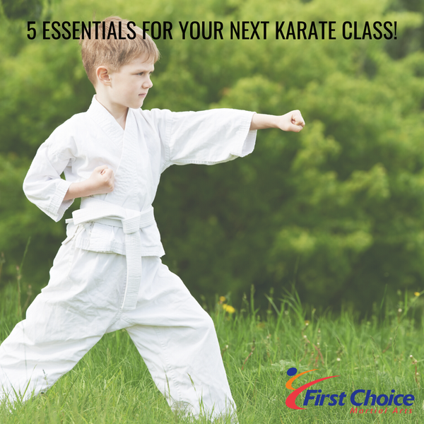 5 Essentials for your next Outdoor Karate Class!
