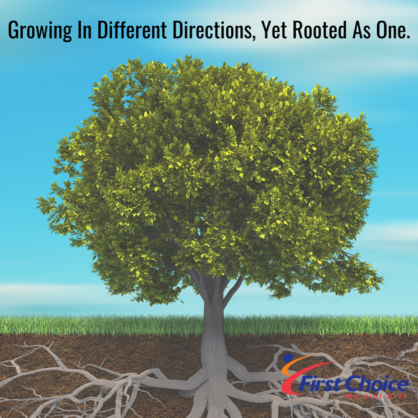 Growing In Different Directions, Yet Rooted As One.