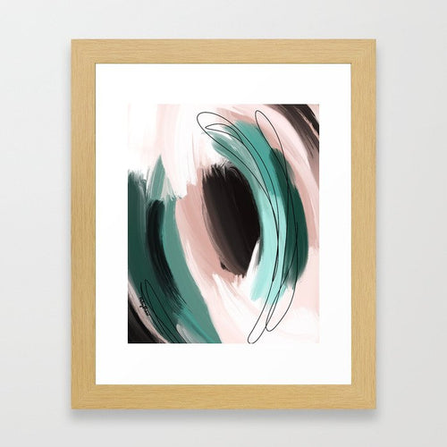 For the Good (Enneagram 1 Abstract Art Print)