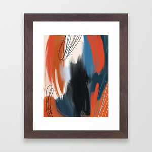 The Boldness of Bleeding Hearts (Enneagram 8 Abstract Art Prints)