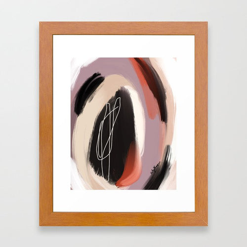 To Look Within (Enneagram 9 Abstract Art Print)
